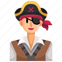 avatar, eye, halloween, man, party, patch, pirate icon
