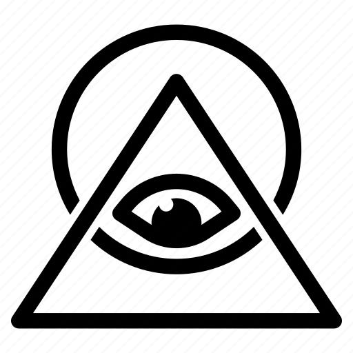 All Eye Illuminati Occult Power Pyramid Seeing Icon