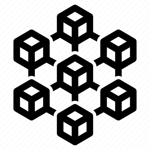 blockchain, blocks, connections, networks, order, pattern, structure icon