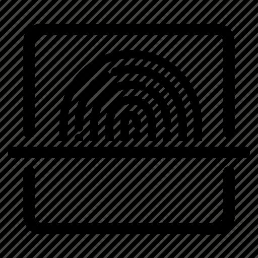confirmation, fingerprint, identification, identity, scan, scanner, scanning icon