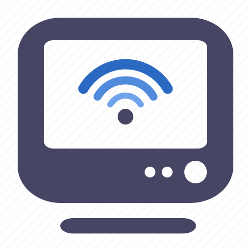 computer, conection, connect, fi, lan, network, old, pc, wi, wifi icon