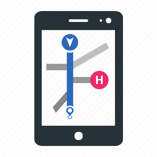 device, direction, gps, map, message, mobile, navigation, navigator, phone icon