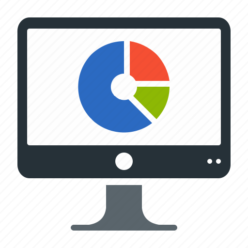 annual, chart, dashboard, piechart, report icon