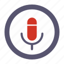 record, recorder, voice icon