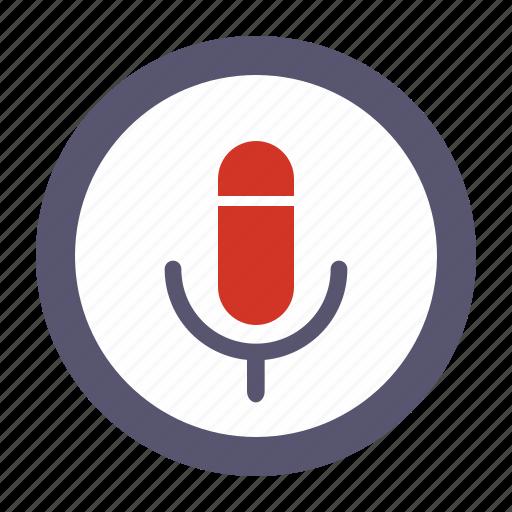 record, recorder, voice icon