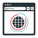 browser, business, domain, globe, web, website, world, www icon