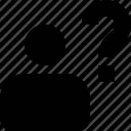 alien, ask, person, question, stranger, unknown, user icon