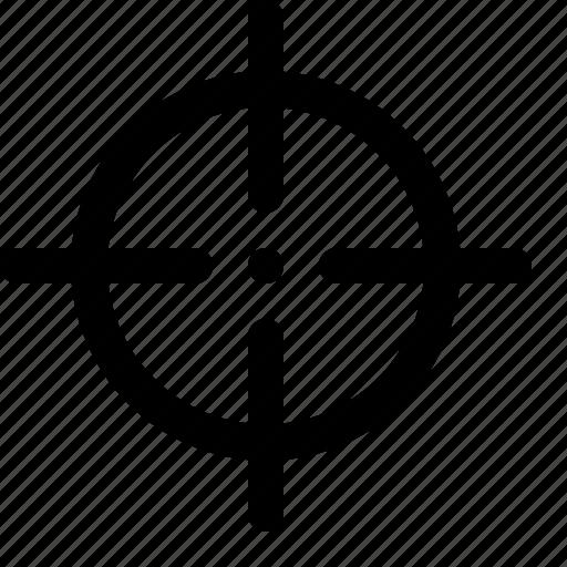 bullseye, sniper, target, view icon