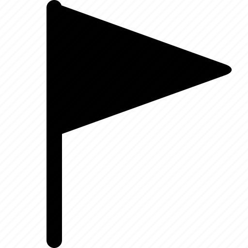 flag, triangle, triangular icon