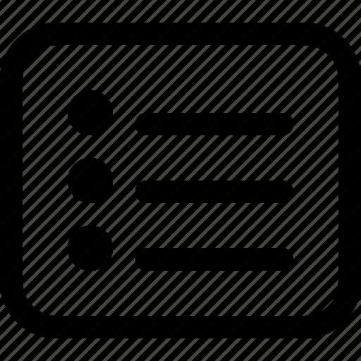 checklist, itens, list, subtitle icon