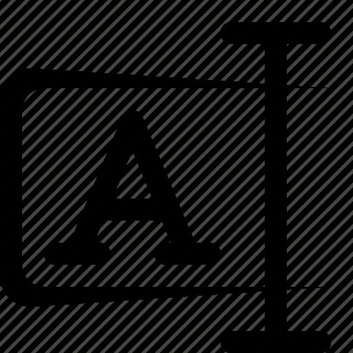 cursor, edit, field, string, text, type, write icon