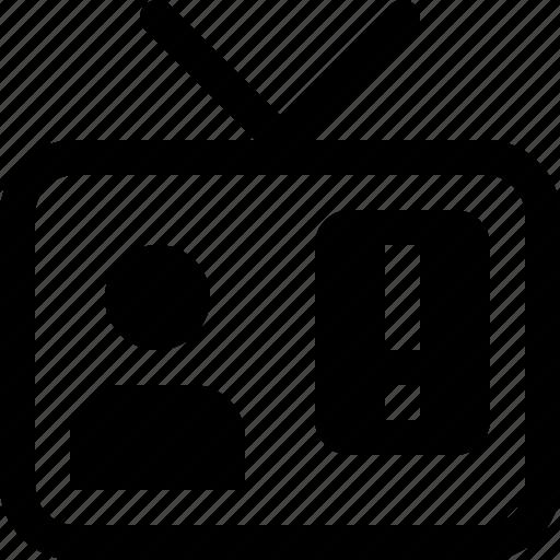 news, television, tv icon