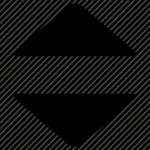 ascending, descending, sort, sorting, table icon
