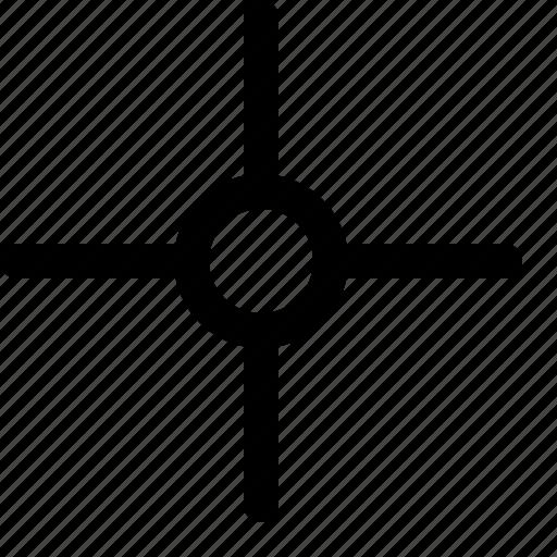 center, centralized, map, mindmap icon