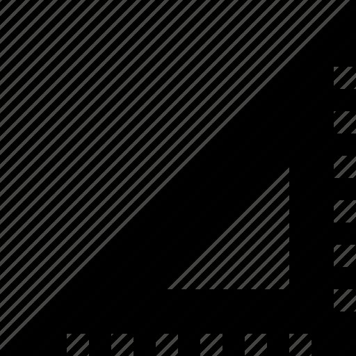 angle, ruler, set square, sharp, triangule icon