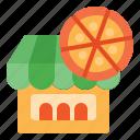 building, pizza, resto, shop, store icon