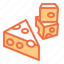cheese, food, milk, mouse, pizza icon