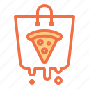 bag, delivery, food, online, pizza icon