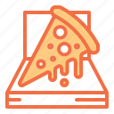 box, delivery, food, packaging, pizza icon