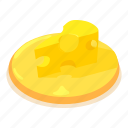cheddar, cheese, food, isometric, object, parmesan, slice