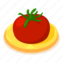 cartoon, concept, d472, isometric, label, object, tomato
