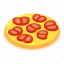 chopped, cooking, food, isometric, object, slice, tomato