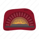 bake, cooking, fire, food, furnace, pizza, stove icon