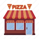 building, cafe, fast food, kitchen, pizza, pizzeria, restaurant icon