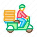 de, delivery, fast, food, meal, pizza icon