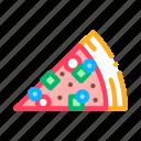 de, fast, food, piece, pizza, slice icon