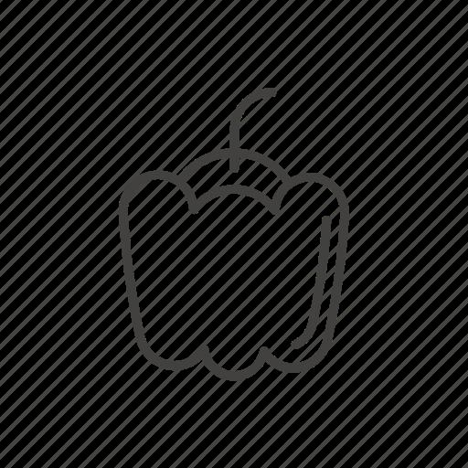 bell pepper, food, pepper, sweet, vegetable icon