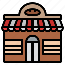 bakery, building, shop, town icon