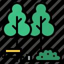 building, city, garden, park, town icon