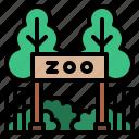 building, park, zoo, town
