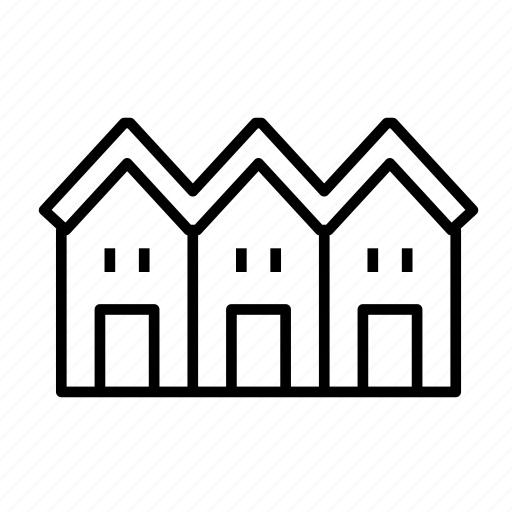 building, house, residence, residential, townhouse, townhouse002 icon