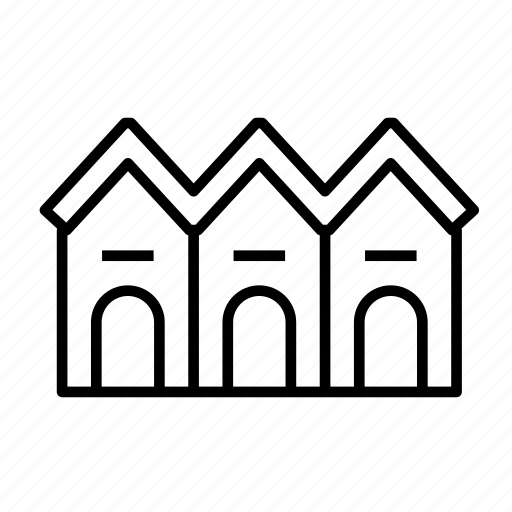 building, house, residence, residential, townhouse, townhouse003 icon