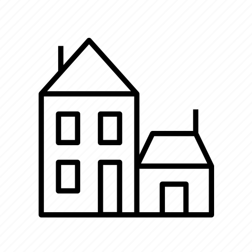 building, house, residence, residential, townhouse, townhouse005 icon