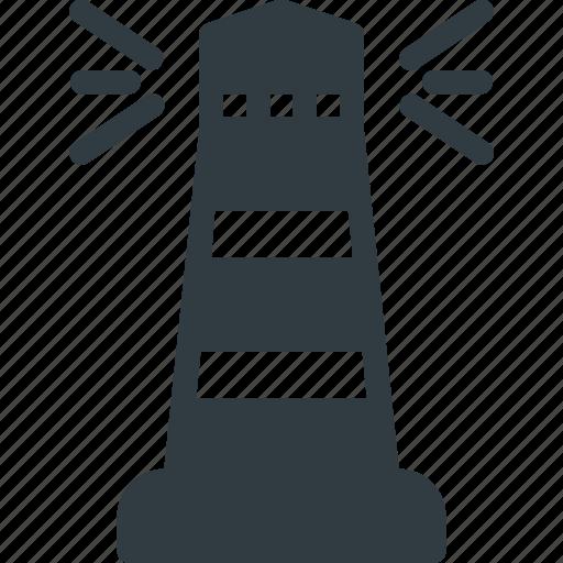 architecture, building, landmark, lighthouse, place icon