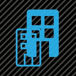 apartment, architecture, block, building, landmark, place icon