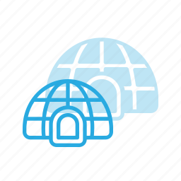 architecture, building, igloo, landmark, place icon
