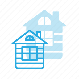 architecture, building, house, landmark, loghouse, place, wood icon