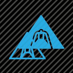 architecture, building, egypt, landmark, piramid, place icon