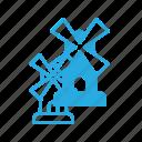 architecture, building, landmark, place, windmill icon