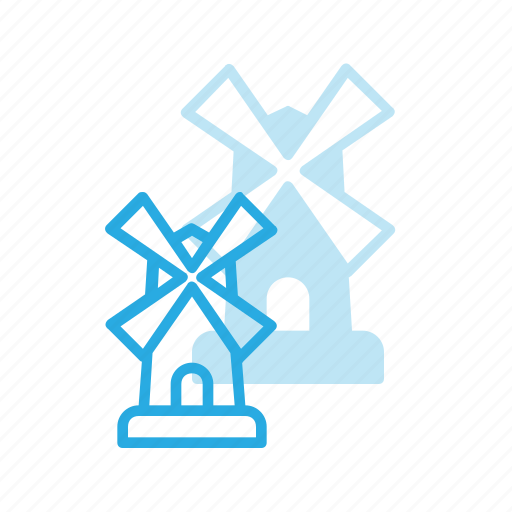architecture, building, landmark, place, windmill icon