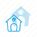building, dog, house, landmark, place icon