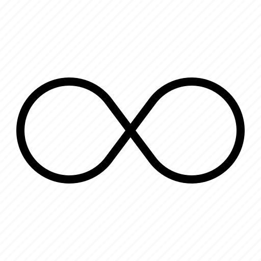 all, inclusive, infinity, sign icon