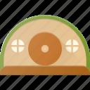 architecture, building, hobbit, house, landmark, place icon
