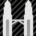 architecture, building, landmark, petronas, place