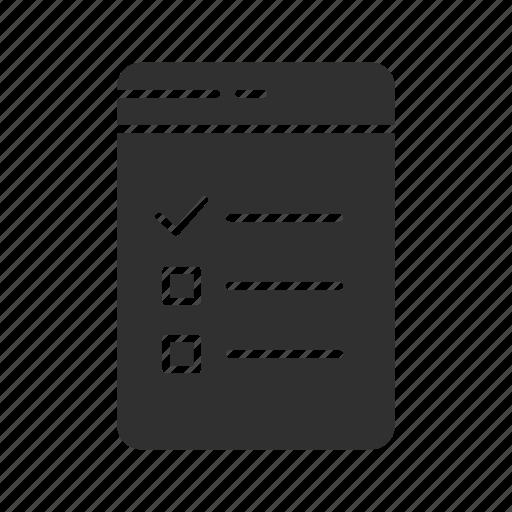 checklist, files, list, notes icon