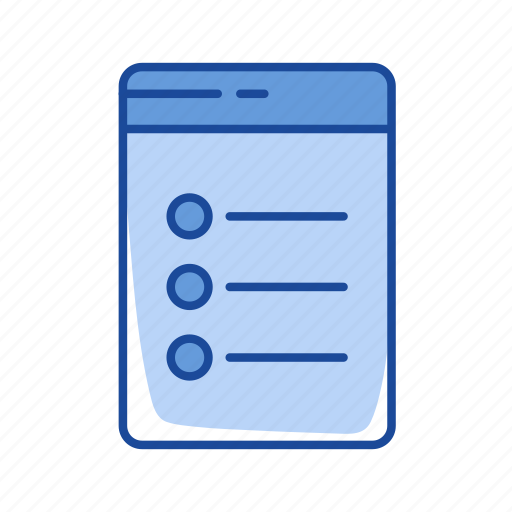 bullets, list, notes, organize icon